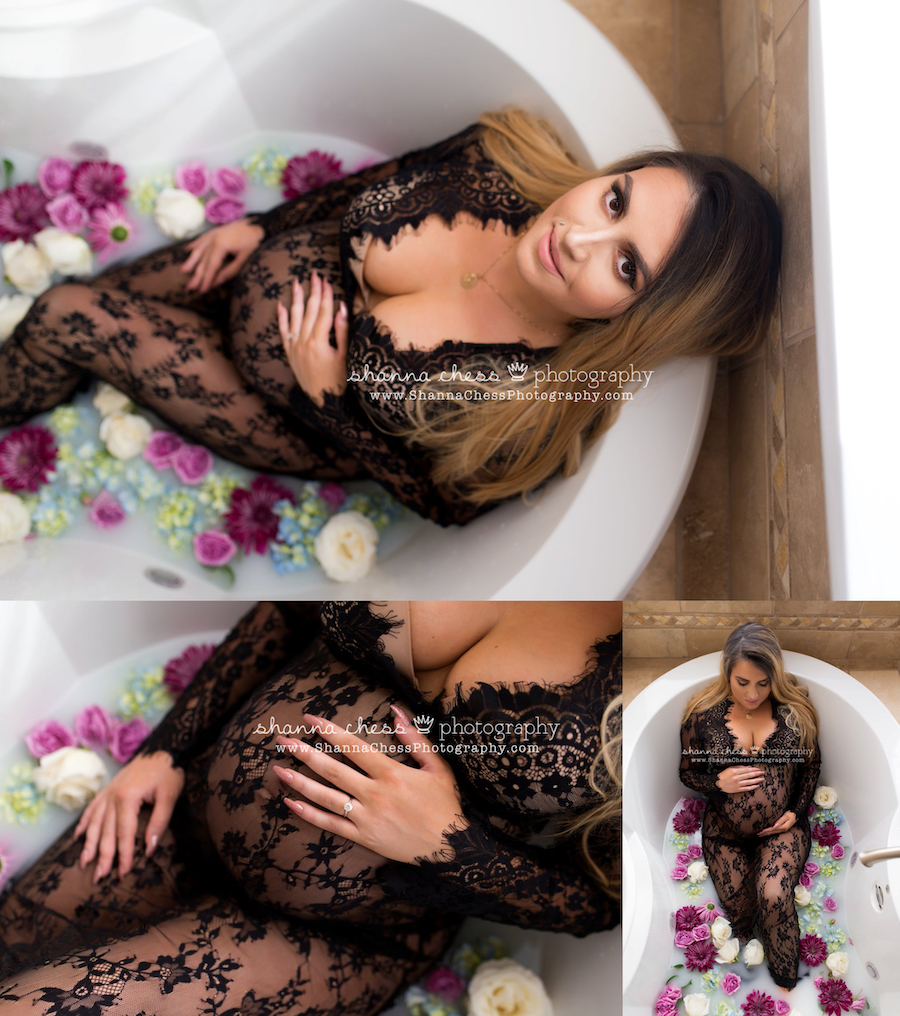 eugene oregon milk bath maternity photos