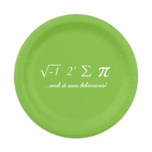 I Ate Some Pie | Funny Pi Day Paper Plates