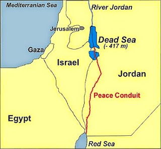 a pipeline to help replenish the Dead Sea