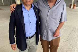 Alexandre Pereira visita obras do Hospital de Ensino e Laboratórios de Pesquisa