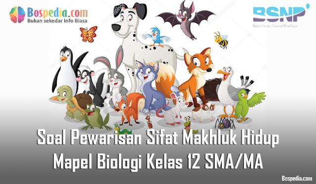 Soal Pewarisan Sifat Makhluk Hidup Mapel Biologi Kelas 12 SMA/MA