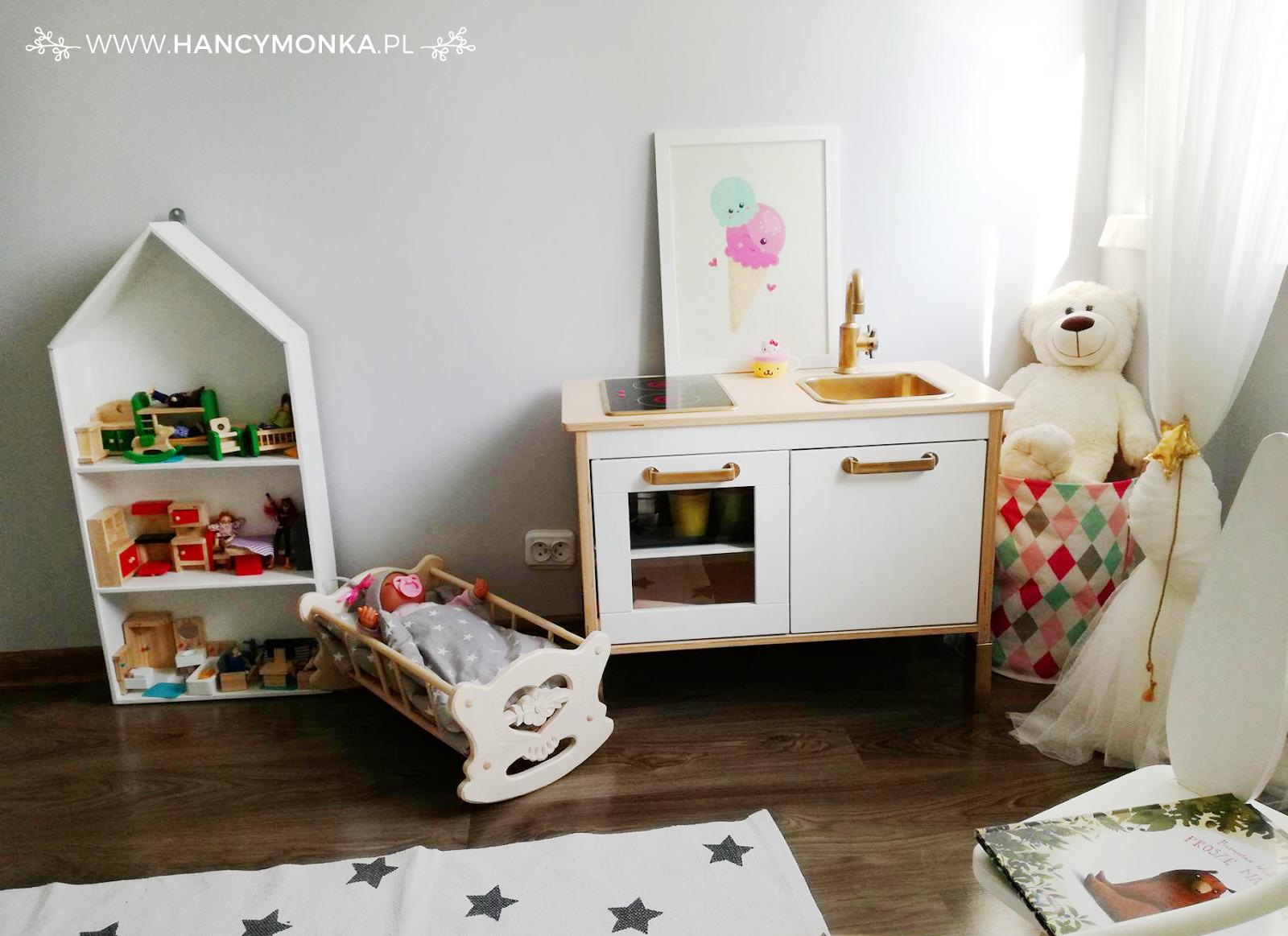 pokój dziecięcy, pokój dziewczynki, pokój skandynawski, skandynawski styl, girl room, kids room, scandi style, scandinavian style, bunny, stars, girly room, hancymonka, pokój Hani, pokój przedszkolaka, roomdecor, home decor, home design, interior design