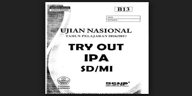 Download Kumpulan Soal Try Out IPA SD/MI