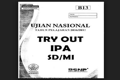 Download Kumpulan Soal Try Out IPA SD/MI