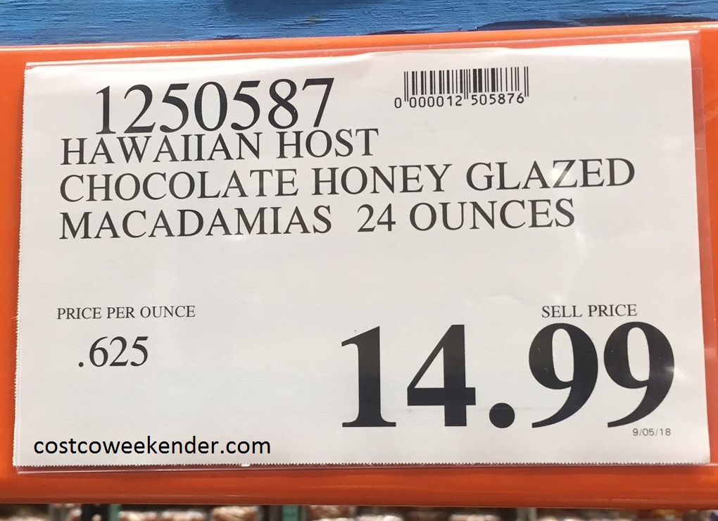 Deal for Hawaiian Host Milk Chocolate Honey-Glazed Macadamias at Costco