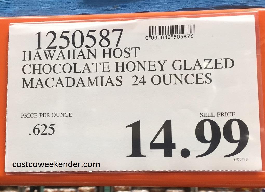 Deal for Hawaiian Host Milk Chocolate Honey-Glazed Macadamias at Costco