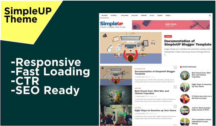 SimpleUP theme Responsive Fast Loading