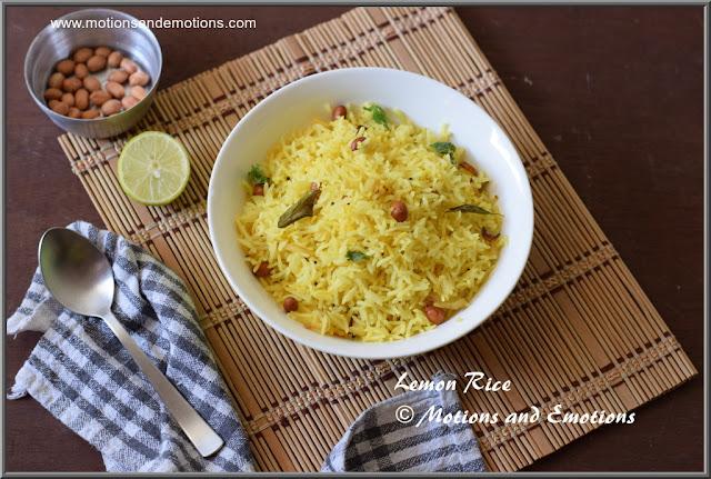 Leftover rice Makeover as Lemon rice