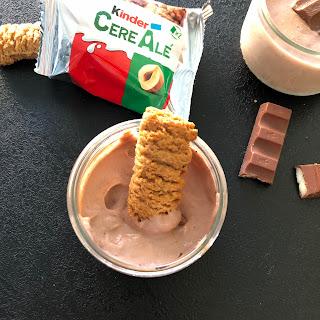 Crème au chocolat Kinder avec biscuit CéréAlé