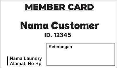 Contoh Desain Kartu Member Laundry