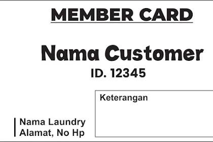 Contoh Desain Kartu Member Laundry Lengkap