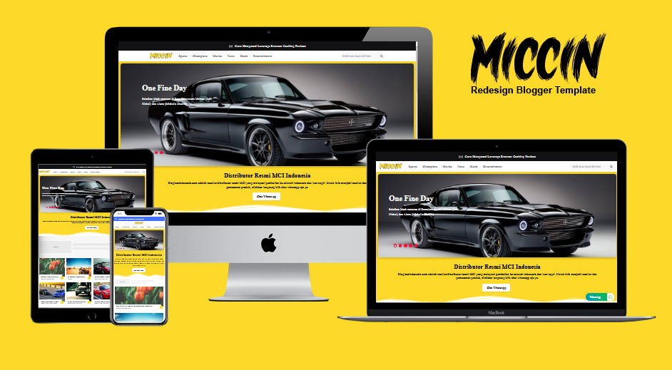 Miccin Redesign Responsive Blogger Template