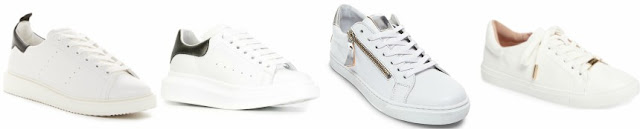One of these pairs of trendy sneakers is from Alexander McQueen on sale for $402 (reg $575) and the other three are under $50. Can you guess which one is the designer pair?