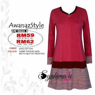 T-Shirt-Muslimah-Awanazstyle-AW0020S
