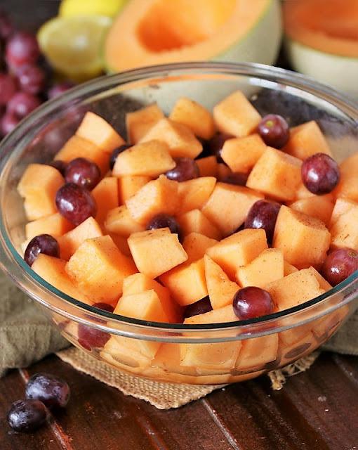 Bowl of Glazed Cantaloupe Salad Image