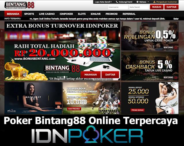 Poker Bintang88 Online Terpercaya
