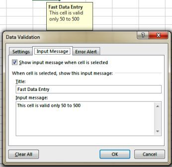 What is Data Validation and Settings