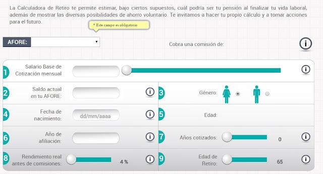 Calculadora de Ahorro de Afore trabajadores del IMSS