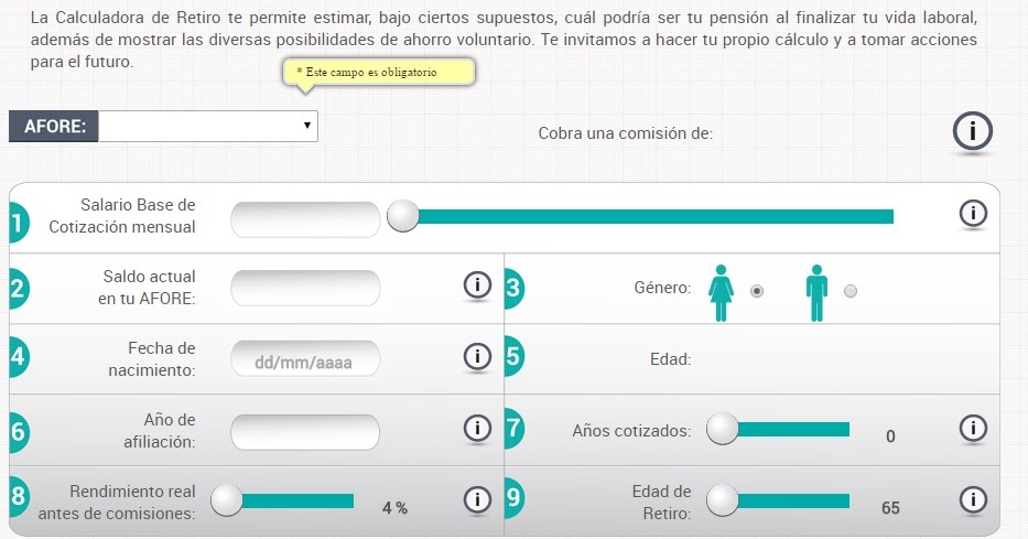 Calculadora de ahorro trabajadores del imss afores en mexico for Calculadora ahorro