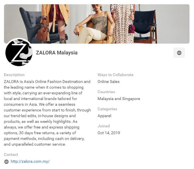 CPAS retail partner: Zalora