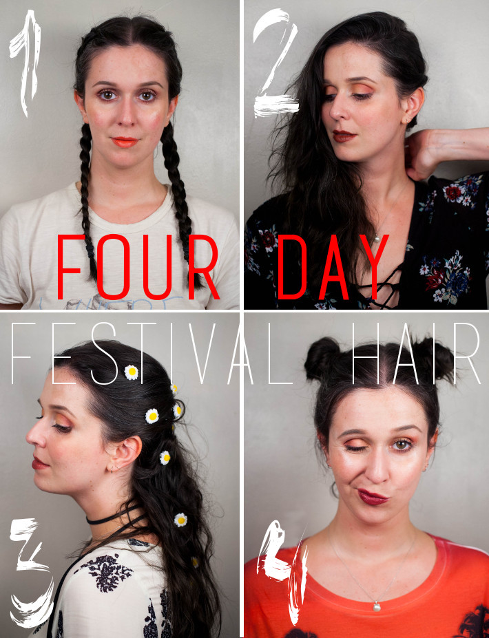 Festival hair: four days, four styles
