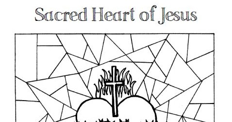 sacred heart coloring pages - photo#13