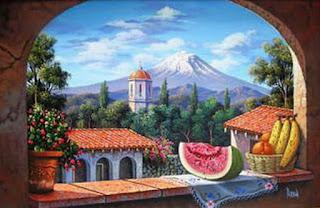 paisaje con bodegon mexicano