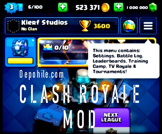 Clash Royale v3.3.1 Modderz Herşey Sınırsız Hileli Apk 2020