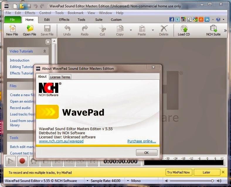 wavepad sound editor standard edition