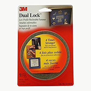 3M Dual Lock Low Profile Reclosable Fastener 5/8-Inch-by-10-Foot, Clear