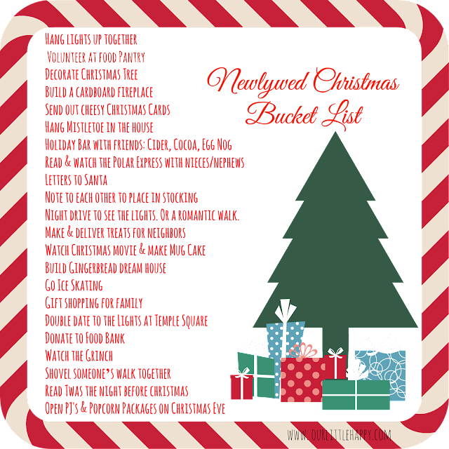 Newlywed Christmas Bucket List