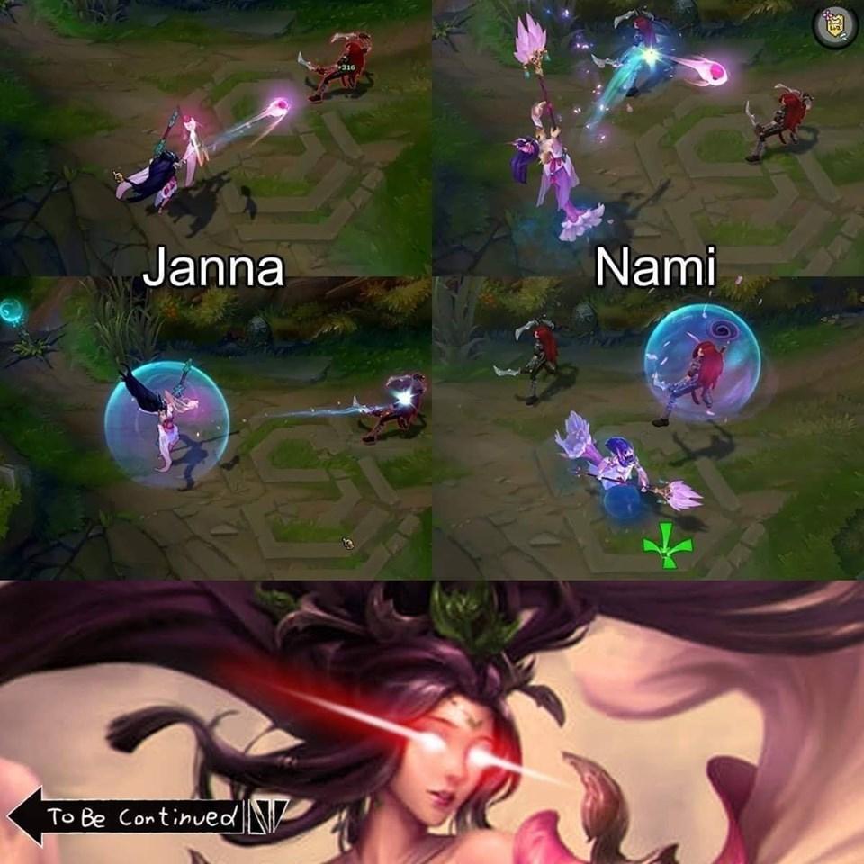 Janna e Nami tem literalmente a mesma skin