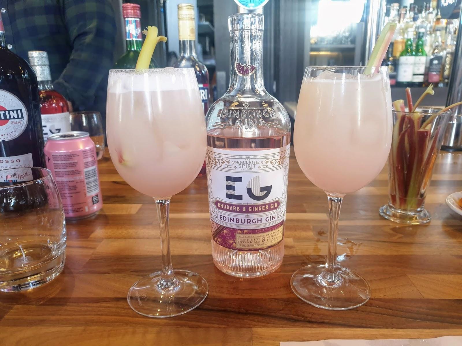 EDINBURGH PINK GIN RHUBARB AND ELEDERFLOWER