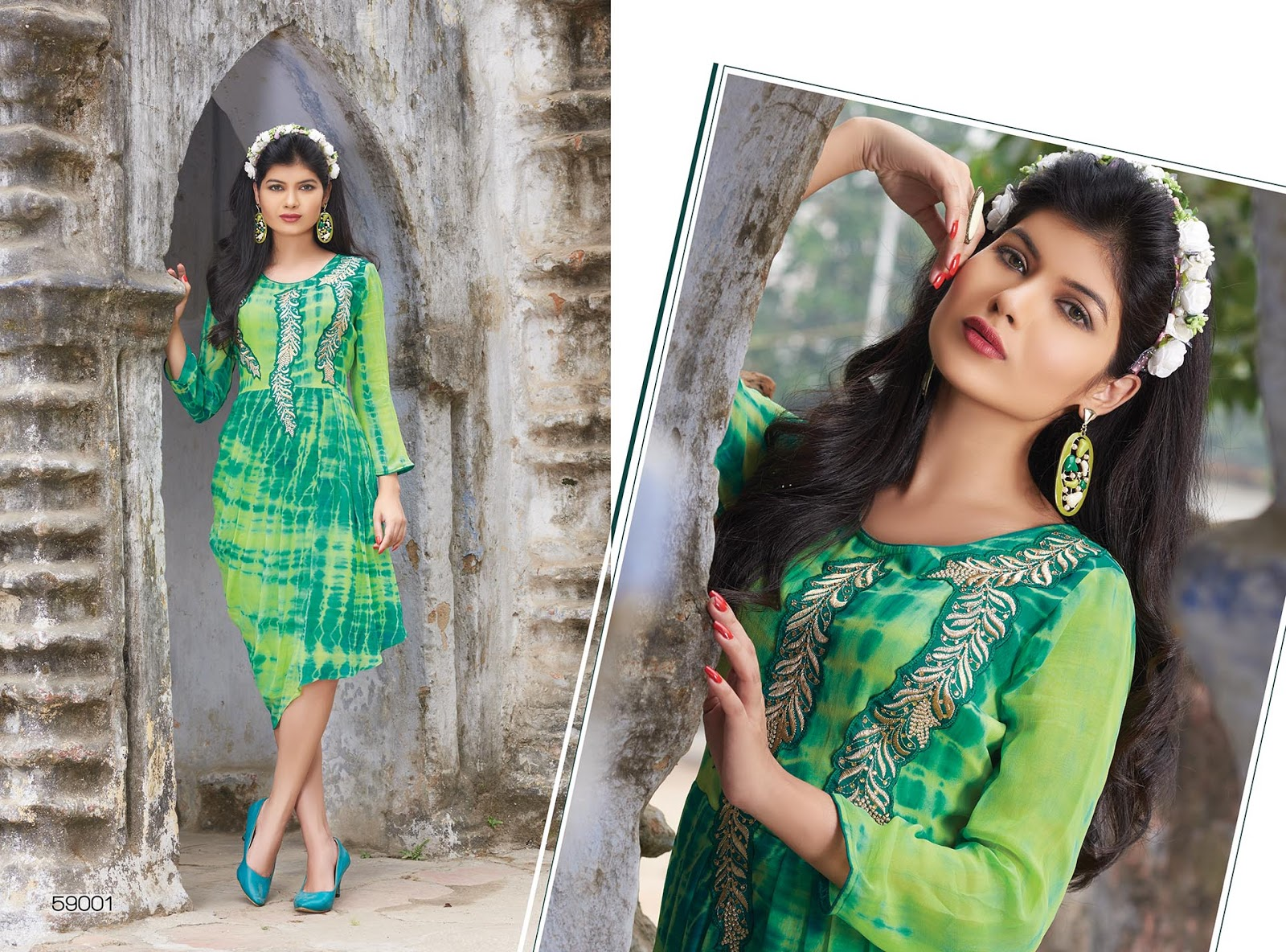 VOUGE 59 – Attractive Fashionable Printed Kurti – Manufacture