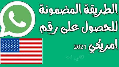 الطريقة المضمونة للحصول على رقم امريكي 2021