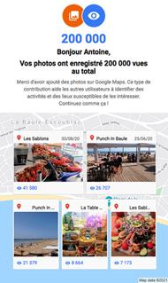 200.000 vues sur Google Maps