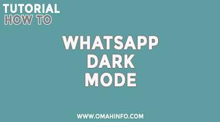 Cara Aktifkan WhatsApp Dark Mode