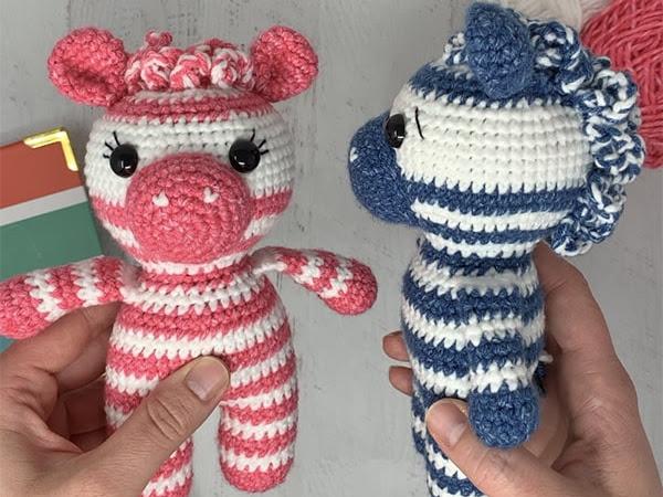 Mini Crochet Zebra Part 1