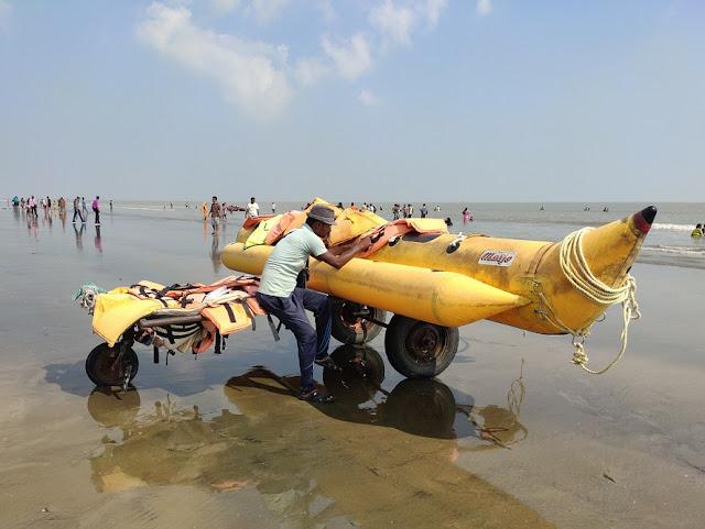 Banana ride at mandarmani beach