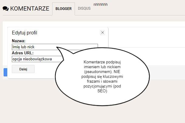 Zasady komentowania na blogu