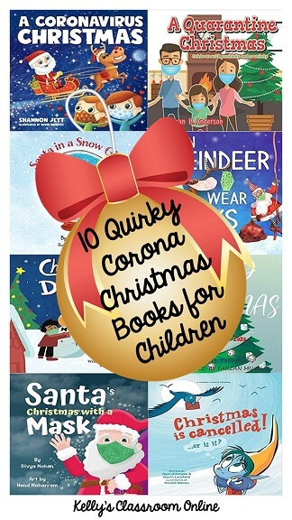 A compilation of ten quirky coronavirus Christmas books for children by self-published authors. Perfect for celebrating Christmas during the pandemic!