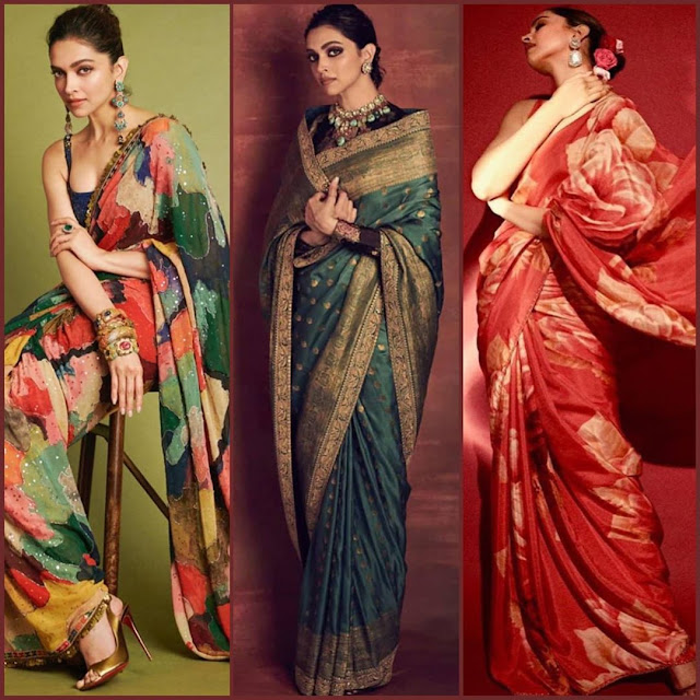 Bollywood Actress Deepika Padukone Looks Gorgeous in Saree  IMAGES, GIF, ANIMATED GIF, WALLPAPER, STICKER FOR WHATSAPP & FACEBOOK