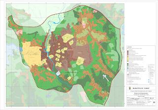 Planta de ordenamento - perímetro urbano cidade