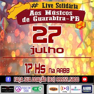 Live Solidária aos Músicos de Guarabira