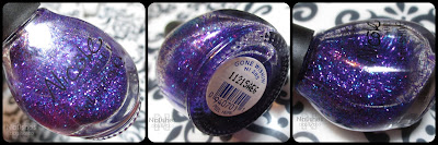 Close up shots of Nicole by OPI Gone Wishin' Nail Polish showing the Blue and Purple glitter mix.
