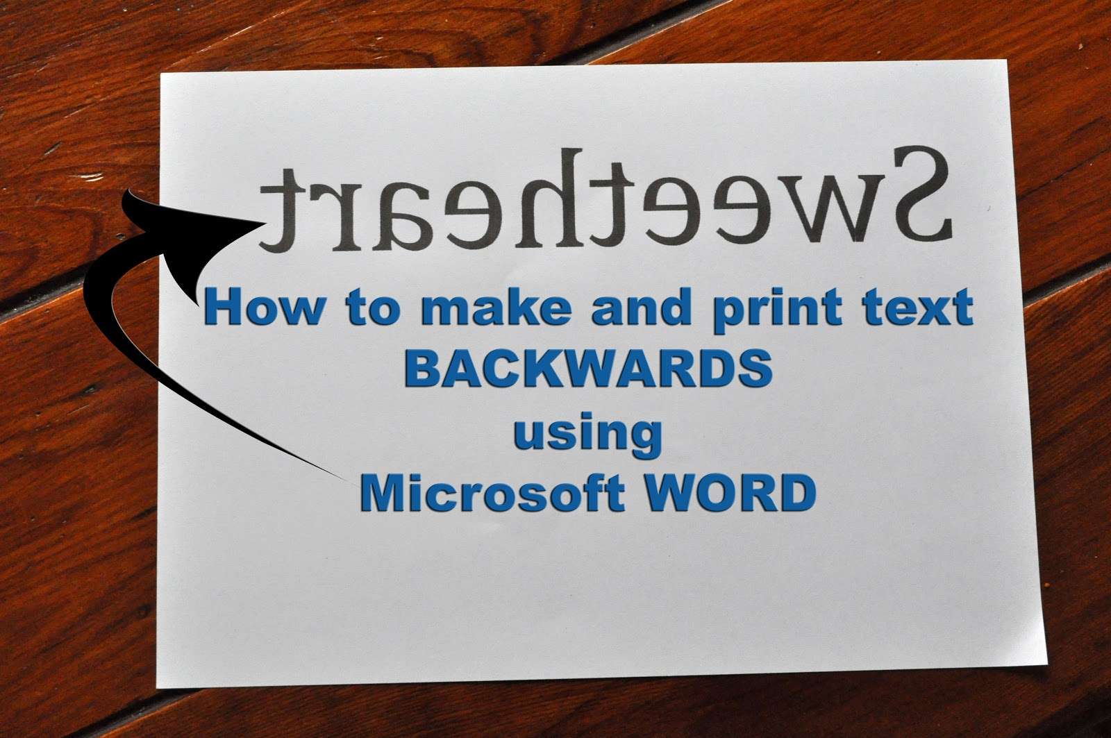 How To Make Letters Backwards In Word010. How To Make Mirror Image ...