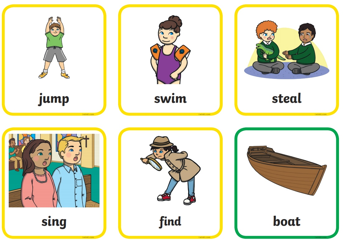 The Pirates word cards for preschool