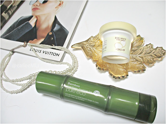 Tony Moly Bamboo Cool Water Soothing Gel, Skinfood Egg White Pore Mask