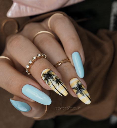 pastelowe paznokcie letnie