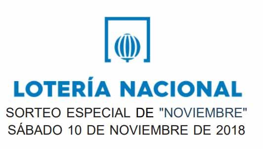 Loteria nacional sabado 10 de noviembre 2018 - Sorteo especial de noviembre
